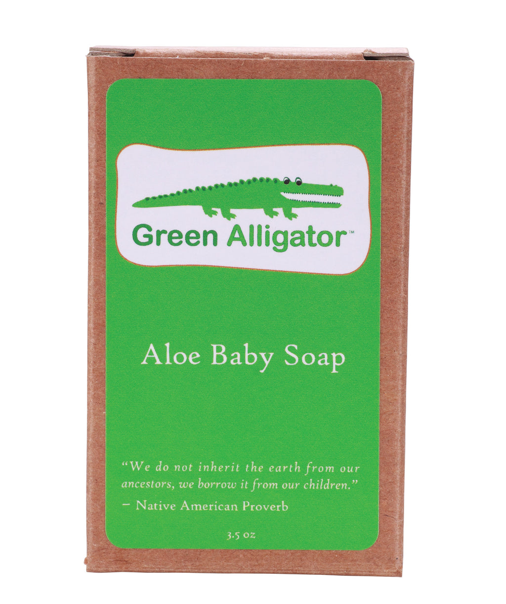 Green Alligator Aloe Baby Soap- Celadon Road- www.celadonroad.com