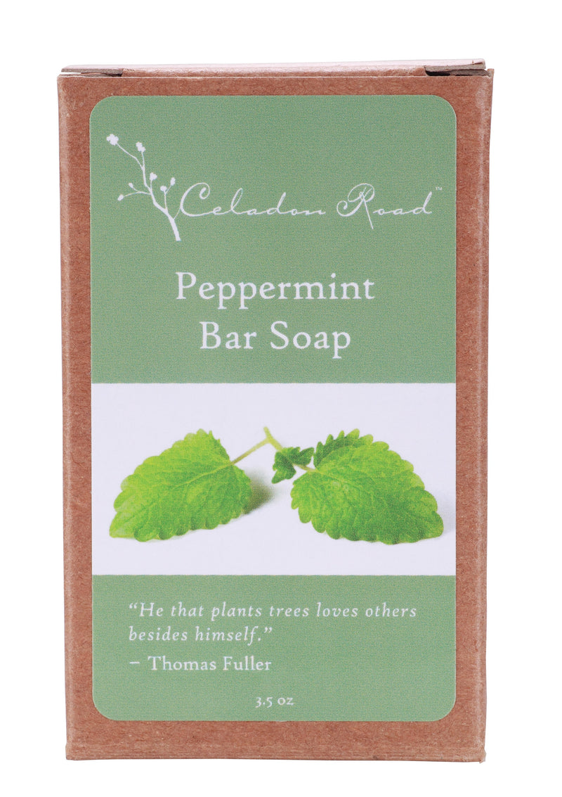Peppermint Bar Soap- Celadon Road- www.celadonroad.com