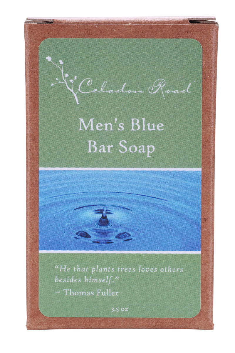 Men's Blue Bar Soap- Celadon Road- www.celadonroad.com