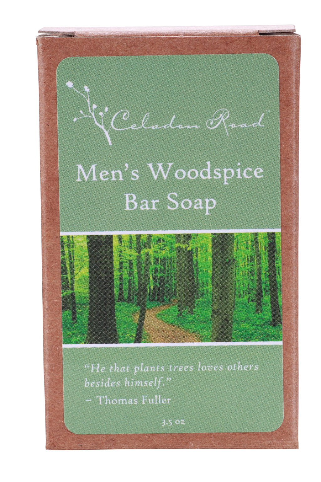 Men's Woodspice Bar Soap- Celadon Road- www.celadonroad.com