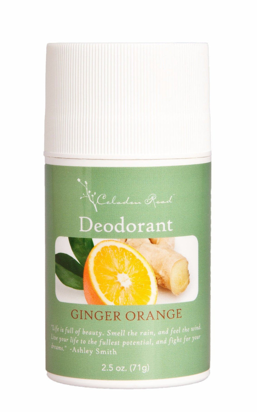 Ginger Orange Deodorant- Celadon Road- www.celadonroad.com