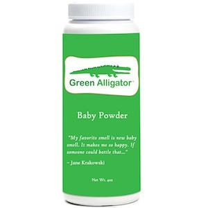 Green Alligator Baby Powder