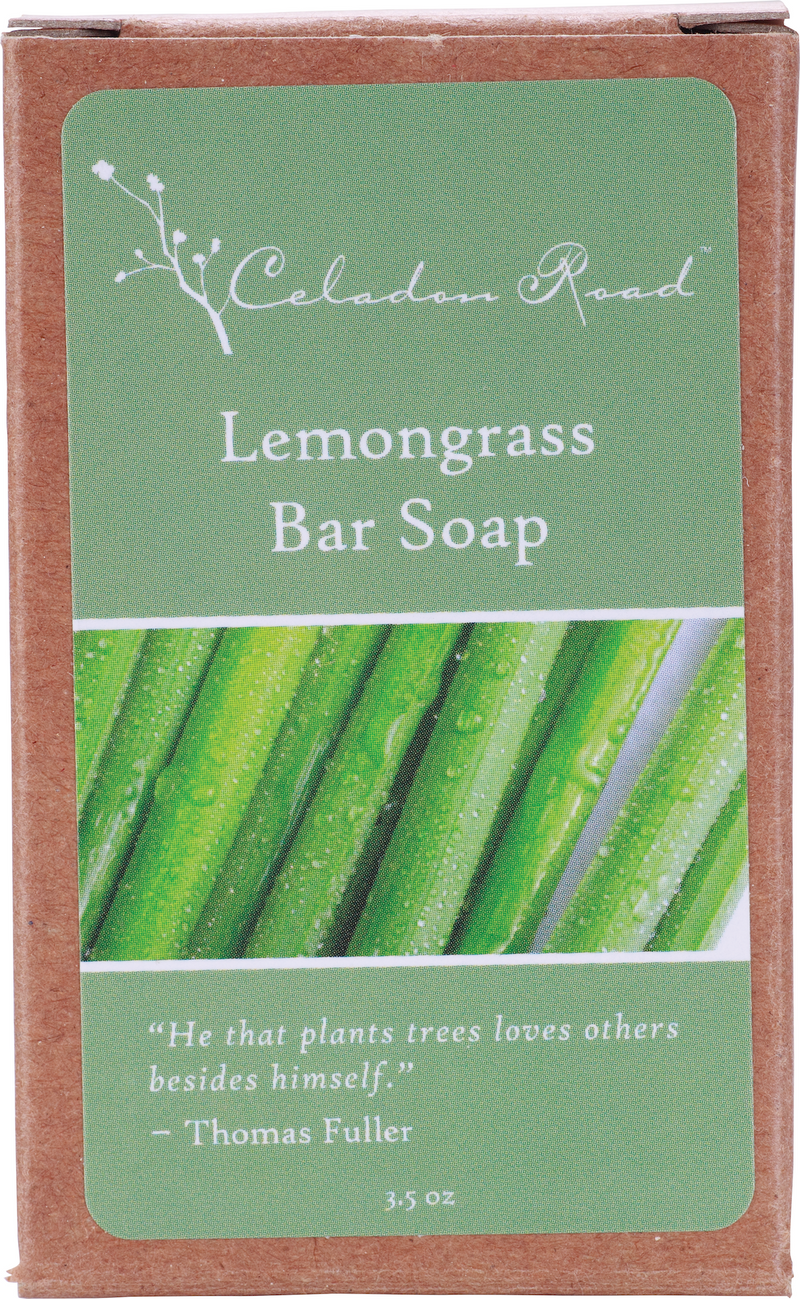 Lemongrass Bar Soap- Celadon Road- www.celadonroad.com
