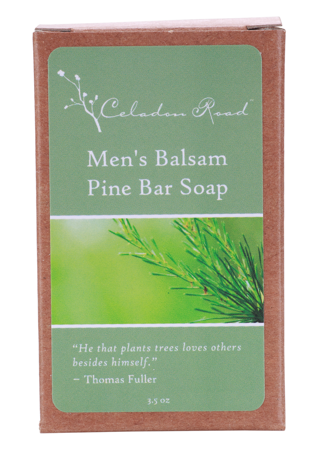 Men's Balsam Pine Bar Soap- Celadon Road- www.celadonroad.com