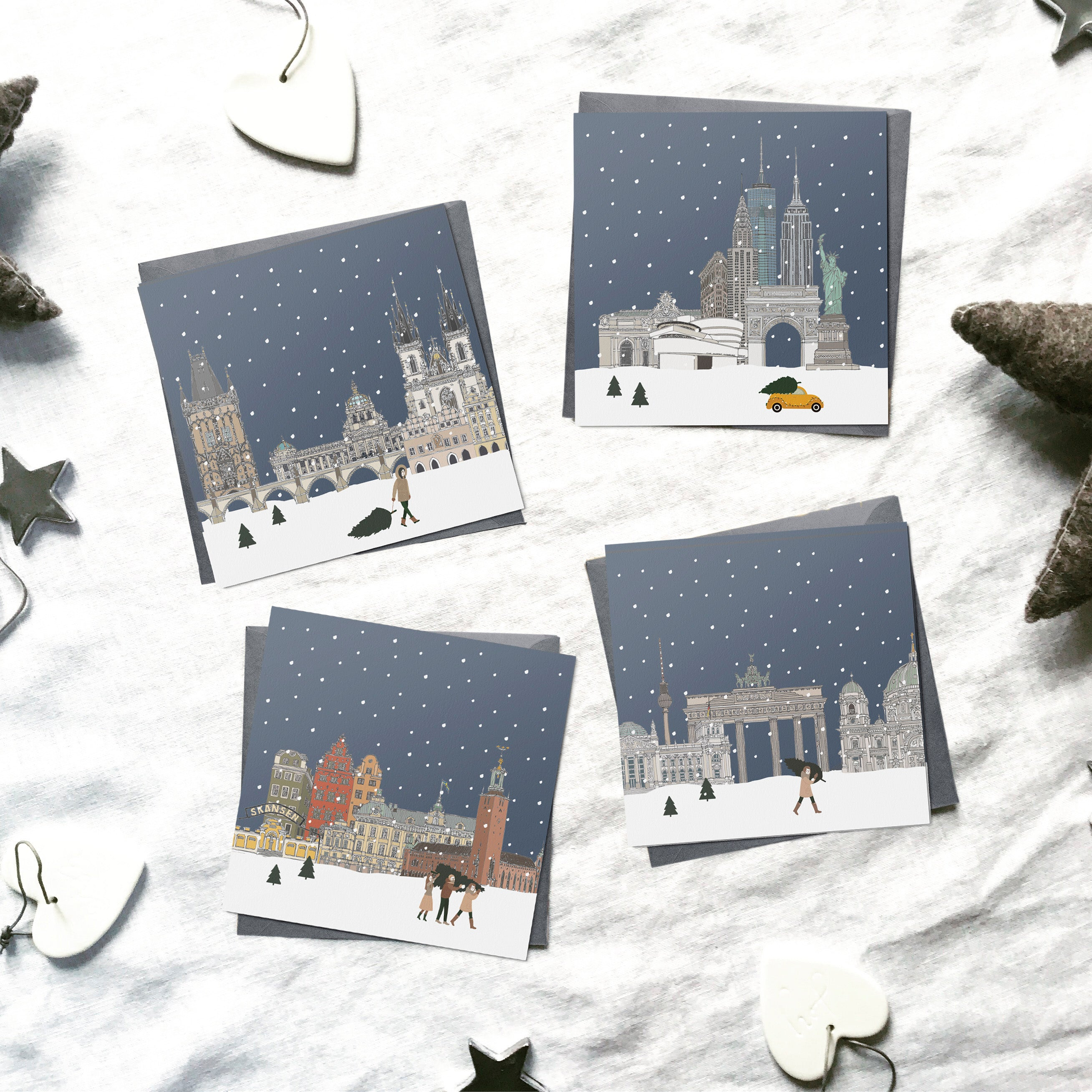 2020 Assorted 'Snow around the Globe' Christmas cards