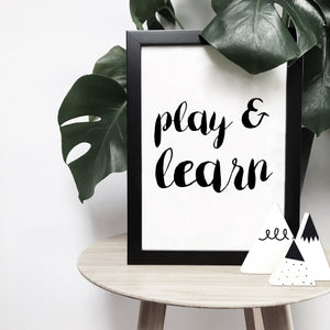 Custom brush letter monochrome print | ink & white