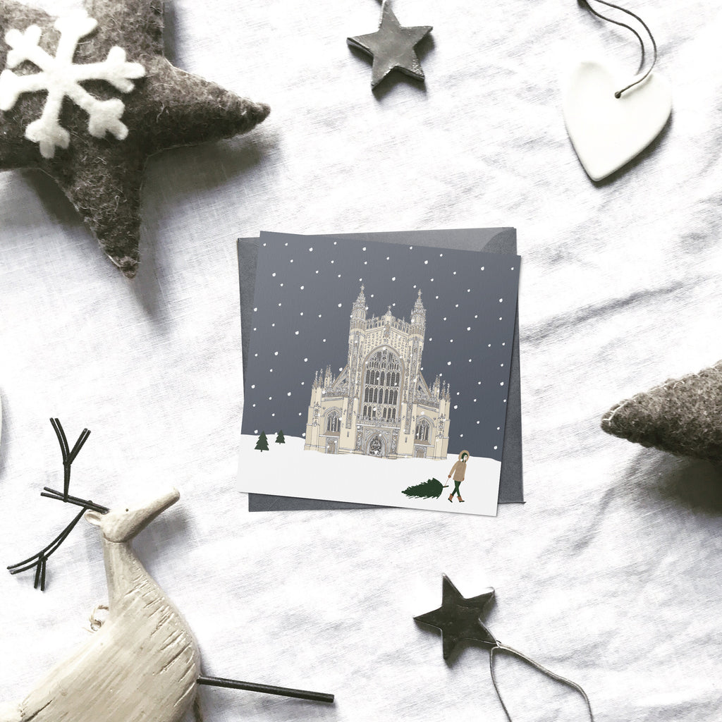 Bath 'Britain in the snow' Christmas cards | ink & white