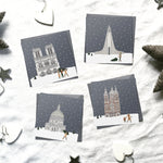 Assorted 'Snow around the globe' Christmas cards