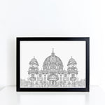 Berlin Cathedral, Germany illustration | ink & white