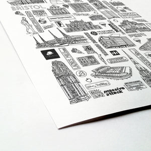 Bristol city illustration | ink & white