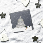 Copenhagen 'Snow around the globe' Christmas cards | ink & white