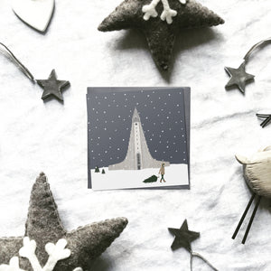 Assorted 'Snow around the globe' Christmas cards | ink & white