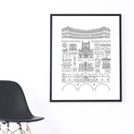 Bath city illustration | ink & white