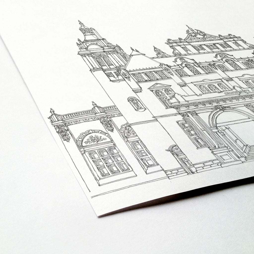 Kelvingrove Art Gallery and Museum, Glasgow, Scotland illustration