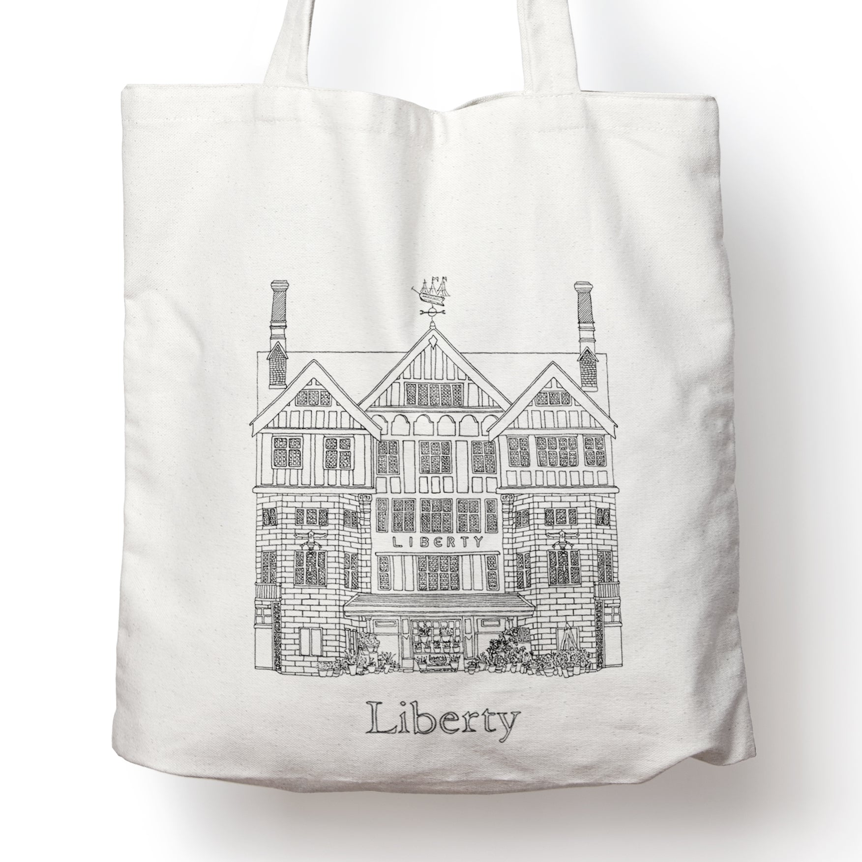 Liberty, London tote bag | ink & white