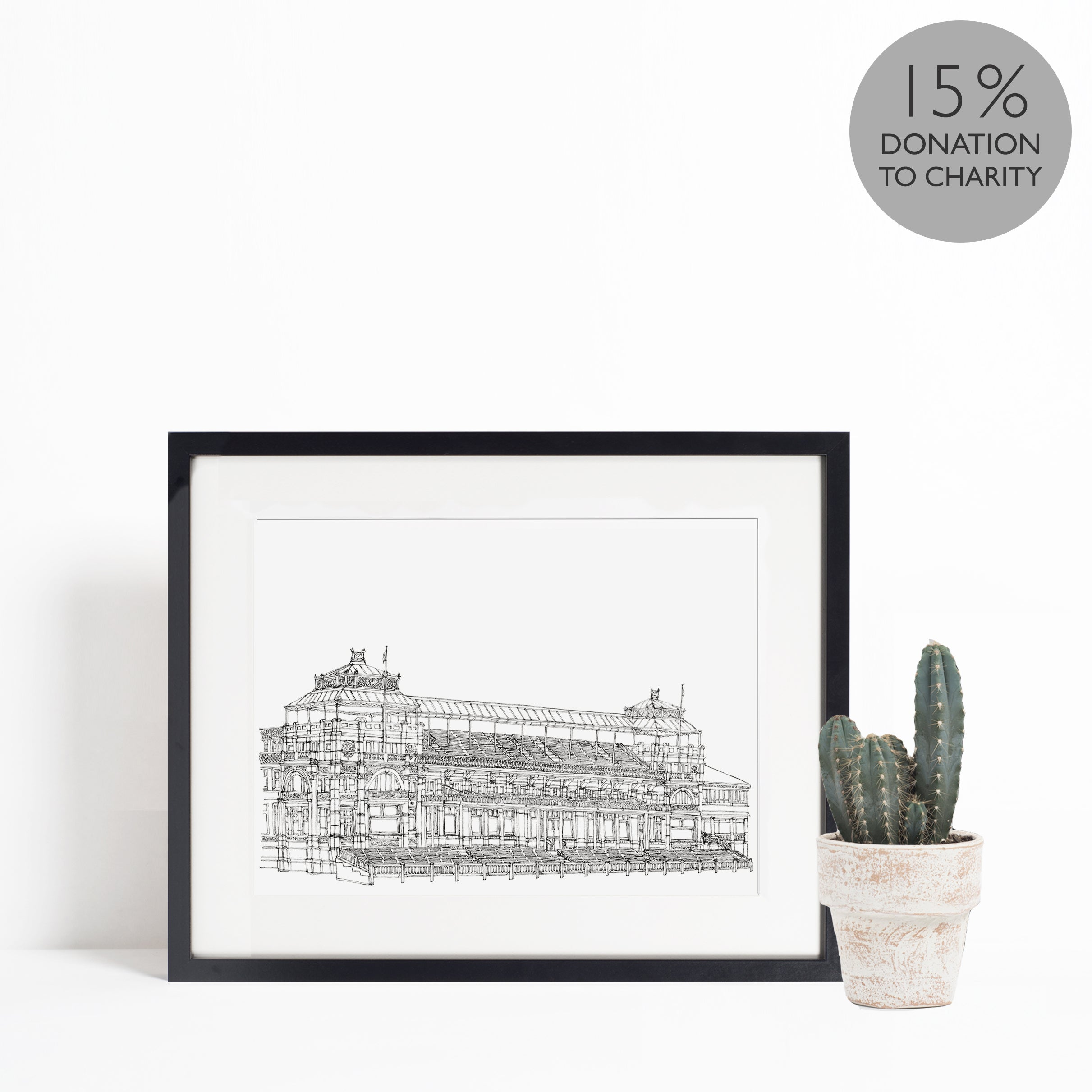 The Pavilion at Lord's, St. John's Wood, London illustration | ink & white