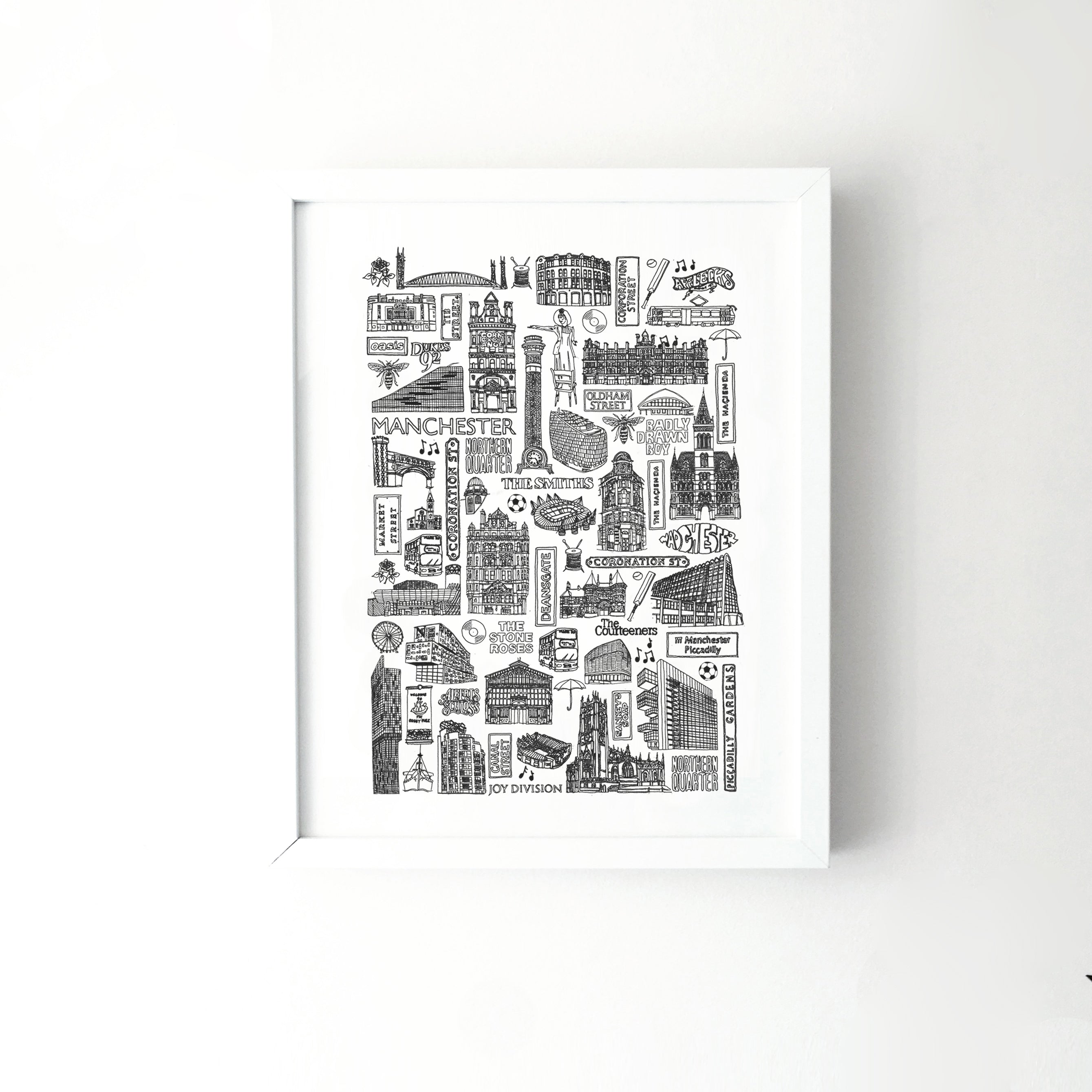 Manchester city illustration | ink & white
