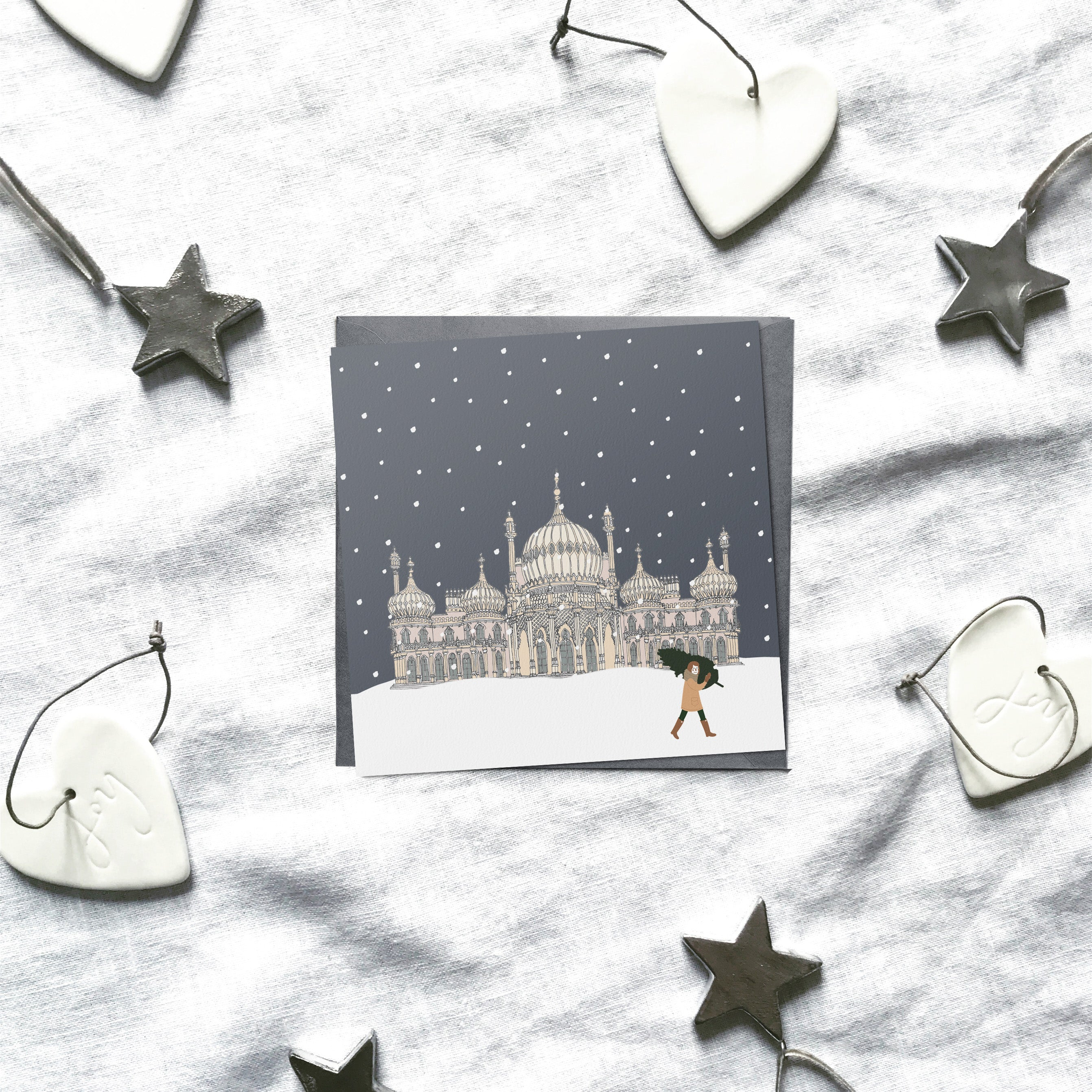 Brighton 'Britain in the snow' Christmas cards | ink & white