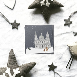 London 'Britain in the snow' Christmas cards