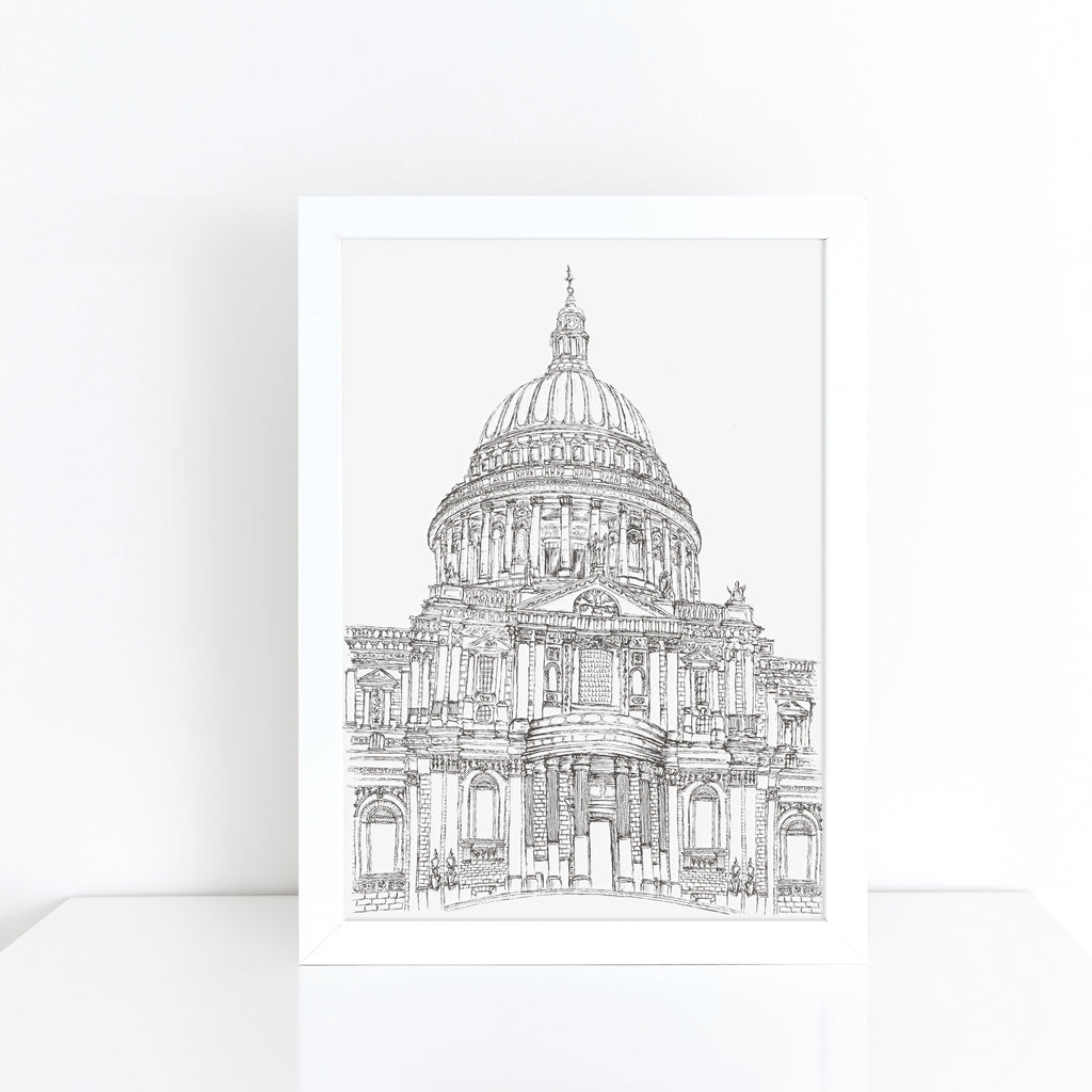 St. Paul's Cathedral, London, England illustration