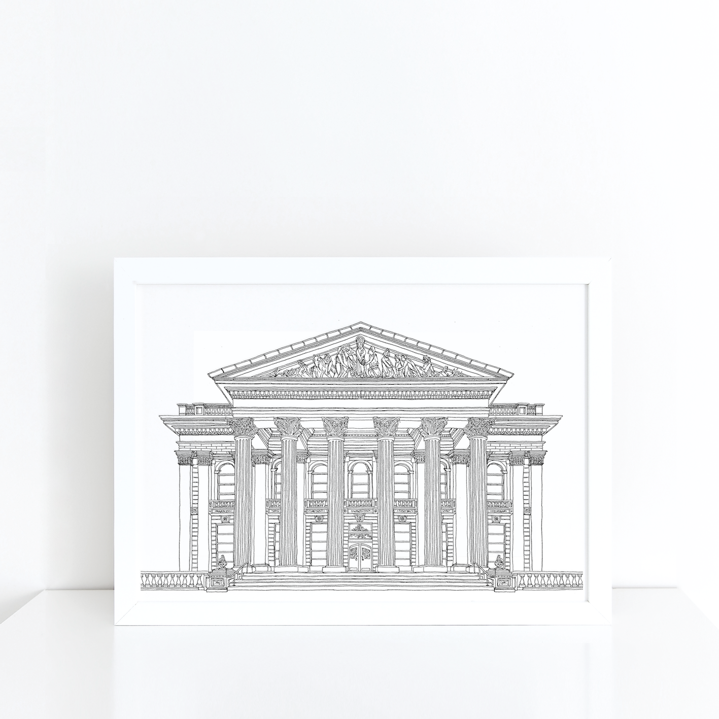 The Dome, Edinburgh illustration | ink & white