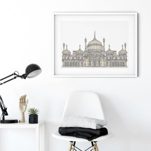 Royal Pavilion, Brighton, England illustration | ink & white