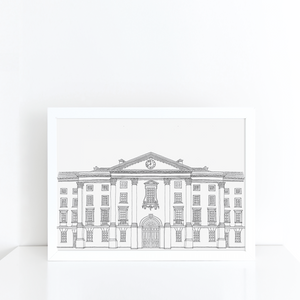 Trinity College, Dublin illustration | ink & white