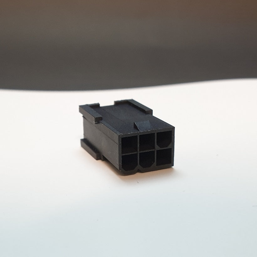 6 Pin Female GPU/PCIe Connector (Male Terminal)