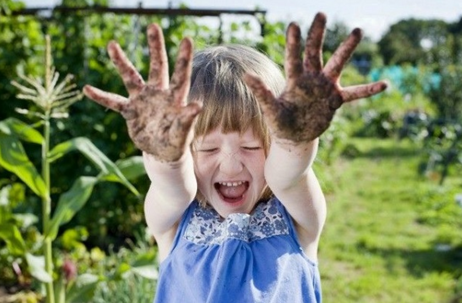 Let your kiddos get dirty on the playground