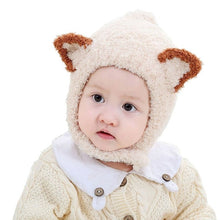 Kids Fleece Bear Fox Ears Balaclava