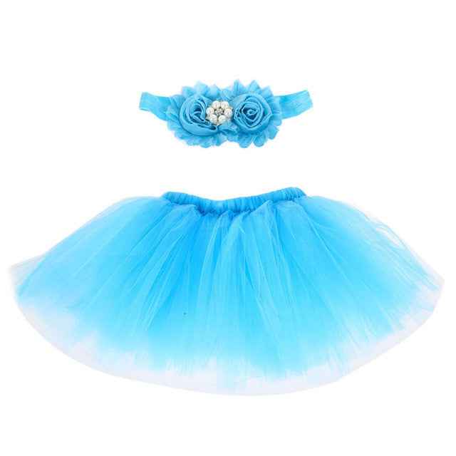 Newborn Photography Props Infant Girl Pettiskirt Princess Baby Tutu Skirt Headband Baby Photography Props