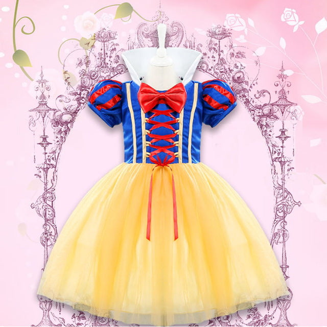 Girl Princess Snow White Costumes Cute Kids Halloween Outfits