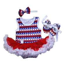 3Pcs 0-18M Infant Baby Girl Tutu Dress Kids Romper Jumpsuit Dresses Headband Shoes Gift