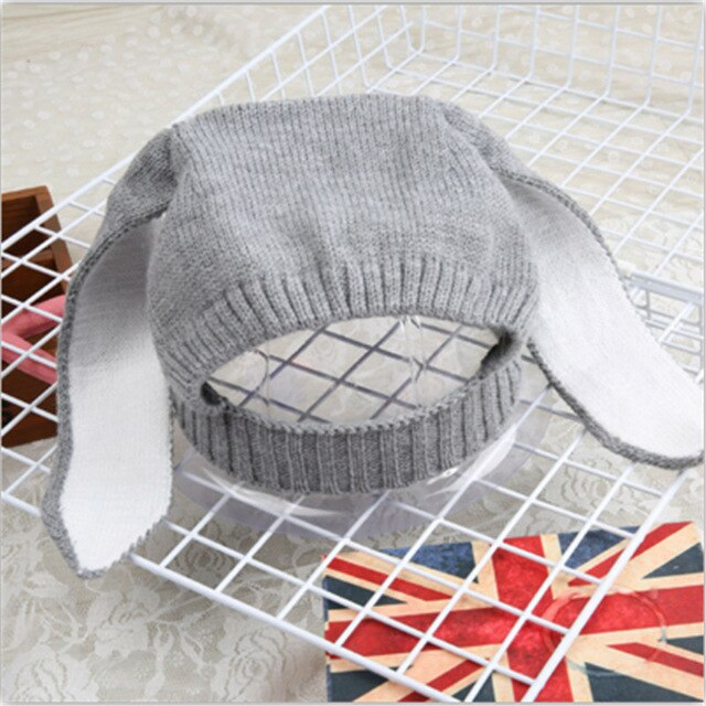 Knitted Children's Bunny winter hat