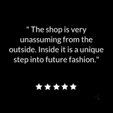 ATELIER957 five star review: The shop is very unassuming from the outside. Inside it is a unique step into future fashion | Chic boutique women's clothing in St. Paul, MN