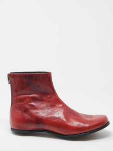 Cydwoq Red Leather Egg Boots | ATELIER957