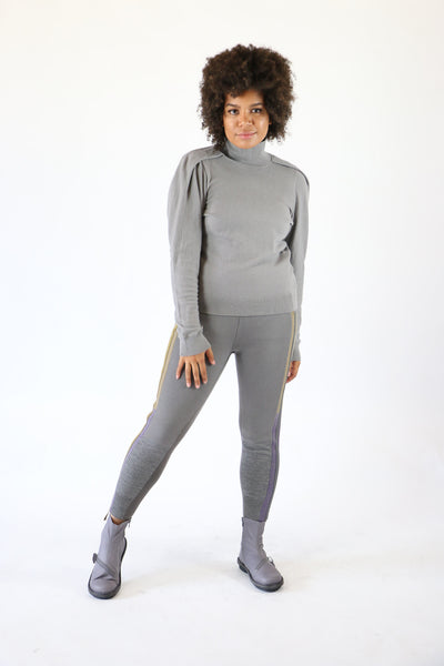 JNBY Grey High Neck Sweater | ATELIER957