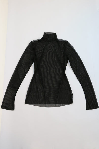 mesh_wear_nyc Turtleneck Mesh Top | ATELIER957