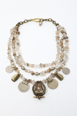 Mya Lambrecht Quartz and Antique Coin Necklace | ATELIER957