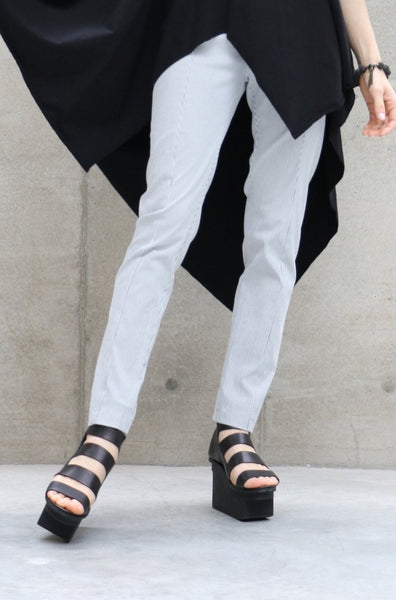 Alessio Bardelle Pull On Striped Skinny Pants | ATELIER957