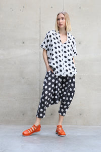 Moyuru Low Crotch Dotted Pants