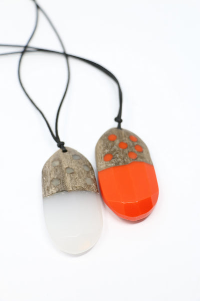 Sylca Adjustable Geode Pendant Necklace | ATELIER957