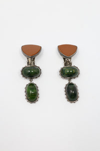 Sally Bass Stone Dangle Clip On Earrings | ATELIER957