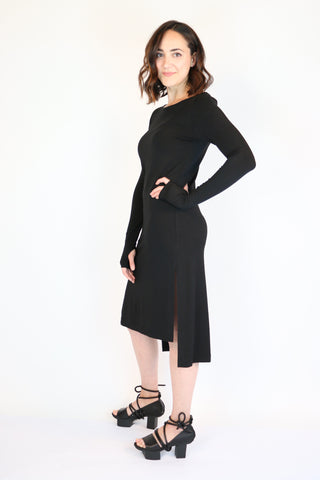 NY 77 Design Black Fitted Dress | ATELIER957