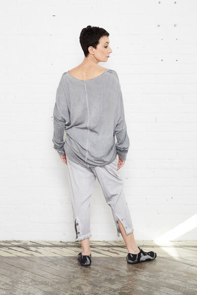 Umit Unal Grey Drop Crotch Pants - - | ATELIER957 | shop sale items from hand-picked, statement clothing, shoe, and accessory collections up to 70 percent off