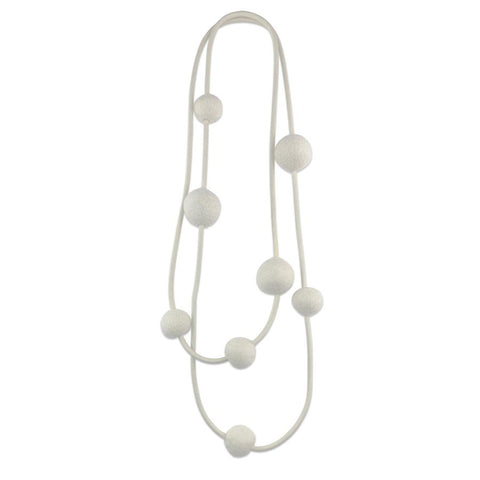 Frank Ideas 8 Chunky Felt Beads Necklace | ATELIER957