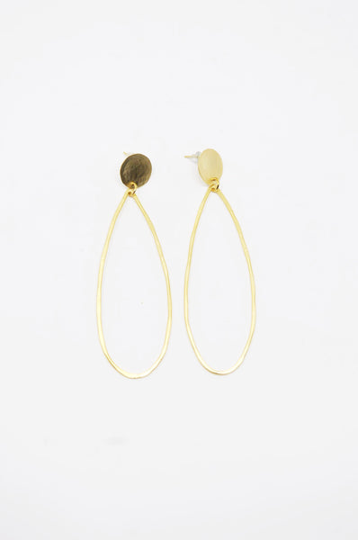 Zzan Tear Drop Earrings - Gold - | ATELIER957 | shop sale items from hand-picked, statement clothing, shoe, and accessory collections up to 70 percent off