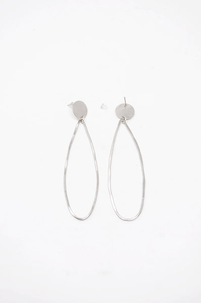 Zzan Tear Drop Earrings - Silver - | ATELIER957 | shop sale items from hand-picked, statement clothing, shoe, and accessory collections up to 70 percent off