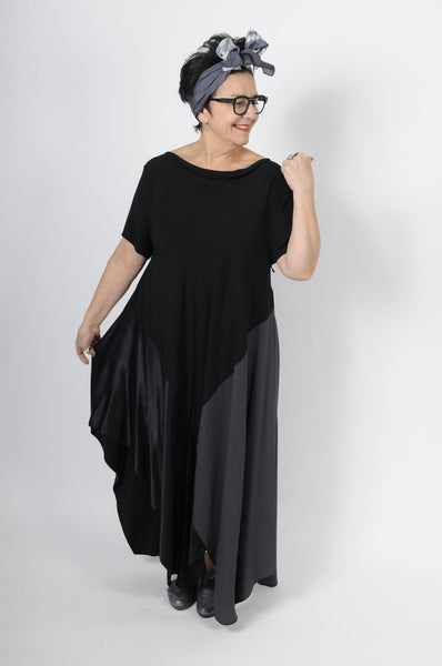 XD Xenia Design Black Viscose Deks Dress- | ATELIER957 | Latest edgy, trendy, and urban hand-picked women's clothing collections from independent local, American and European designers