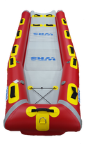 WRS Rescue X-Sled high volume bow and swallow tail design.